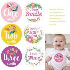 <b>12Pcs</b>/<b>Set Baby</b> Monthly Photograph Stickers 1-<b>12 Months</b> ...