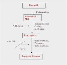 Yogurt Production Flow Chart Process Flow Diagram For Yogurt Production Get Rid Of