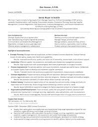 ... Senior Buyer Resume Sample For Study Fancy ...