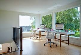 herman miller home office. herman miller home office contemporary with shared black railing two desks a