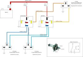 car headlamp wiring diagram wiring H4 Halogen Headlight Wiring Diagram H4 LED Headlight