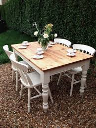 shabby chic dining table diy white floor tile clear glass photo with marvellous chalk paint top