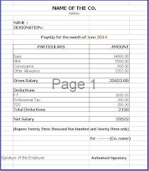 Download Payslip Template Stunning Basic Payslip Template Excel Download Good Salary Certificate Free
