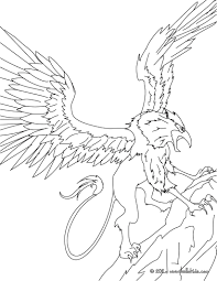 Griffin The Majestic And Powerful Creature Coloring Pages