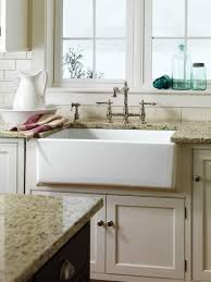 Kitchen With Granite Countertops And White Farmhouse Sink