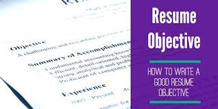 Good Resume Objective How To Write One And Why Its Important