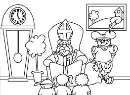 Sinterklaas En Zwarte Piet Kleurplaten Animaatjesnl