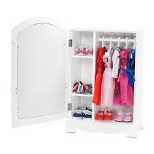 18 Inch Doll Furniture Mirrored Closet with Ballet Barre fits