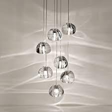 mizu crystal glass chandelier landscape lamps led lighting 5317101