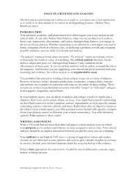 critical essay writing introduction critical analysis template