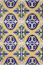 Pattern In Spanish Beauteous Colorful Yellow Green Blue Spanish Pattern Tile Wallpaper