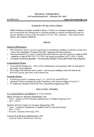 Aerospace Engineer Sample Resume