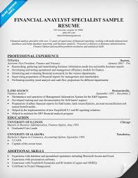 Accounting Resume Skills Examples Financial Analyst Resume