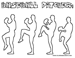 Easy Pro Baseball Coloring Pages For