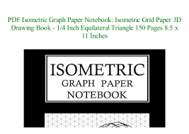 Pdf Download Isometric Graph Paper Notebook Isometric Grid
