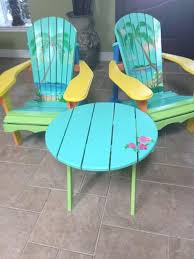 tropical painted furniture. hand painted adirondack chairs tropical furniture i