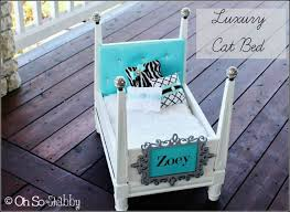 luxury cat beds furniture. luxury cat bed from scrap materials itu0027s an end table turned upside down beds furniture