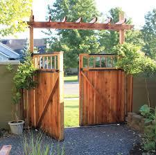 Fence Gate Arbor Designs Double Gate W Arbor Backyard Gates Backyard Backyard Fences