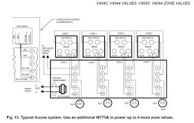 hot water boiler piping zone valves and wiring diagrams Wiring Honeywell Zone System 4 zone valve wiring diagram