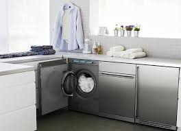 Under counter washer dryer Zybrtooth Consider Compact Washer And Dryer Small Enough To Slide Under Counter And Efficient Theyre Now Loaded With Features That Used To Be Reserved For The Remodelista Little Giants Compact Washers And Dryers Remodelista