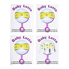 Amazon Com Baby Shower Lottery Raffle Lotto Game Cards For Party
