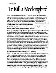 essays on to kill mockingbird to kill a mockingbird essay examples kibin