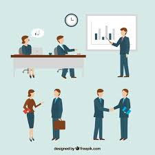 meeting free coworkers talking about the meeting vector free download