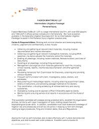 Job Resume Paralegal Cover Letter Sample Paralegal Cover Letters