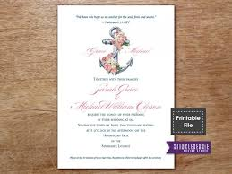 At Home Invitation Nautical Wedding Invitation Printable Wedding Invitations Pink