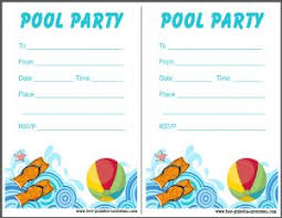 Free Pool Party Invitations Printable Printable Pool Party Invitation