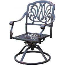 outdoor swivel dining chairs. Darlee Elisabeth Cast Aluminum Patio Swivel Rocker Dining Chair : Ultimate Outdoor Chairs G
