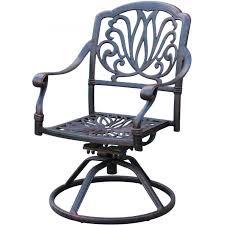 darlee elisabeth cast aluminum patio swivel rocker dining chair