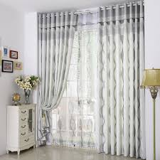 Horizontal Striped Curtains Black And White Funny Gray With Modern Design  Cmt14114
