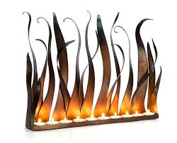 fireplace candle holder insert gas ideas flameless