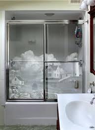 bathroom shower glass doors bathroom glass shower door decals