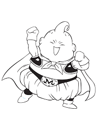 Dragon Ball Z Majin Buu Coloring Page Coloring Pages Dragon Ball