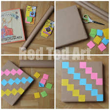 post it note wrapping paper diy