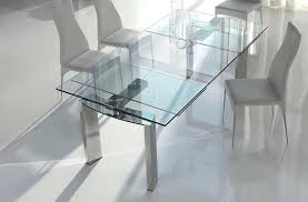 glass dining table expandable contemporary expandable glass dining table nabu glass extendable modern dining table clear