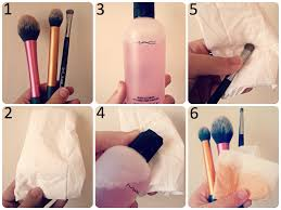 select the desired brushes that need cleaning the three featured here are real techniques blush brush for 9 99 real techniques contour brush from
