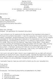 Accounts Assistant Cover Letters Sample Cover Letters For Accounting Free Sample Cover Letter