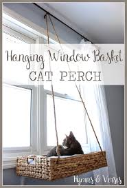 hanging window basket cat perch1 16 diy