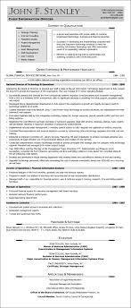 Non Profit Resume Sample Résumé Chief Information Officer After Nonprofit 31