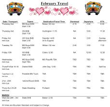 Travel Schedule Travel Schedule