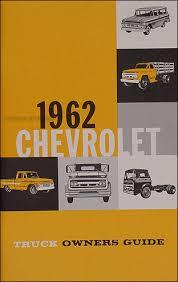 1962 chevrolet truck wiring diagram manual reprint 1962 chevrolet pickup truck reprint owner s manual