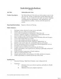 Patient Care Unit Clerk Sample Job Description Bank Teller Resume