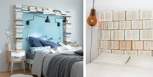 DIY headboards with books