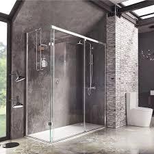 decem sliding door with finger pull handle shower enclosure
