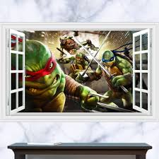 teenage mutant ninja turtles donatello wall sticker cartoon stickers for kids 3d optimus for baby bedroom living room decoration in wall stickers from home  on ninja turtle 3d wall art with teenage mutant ninja turtles donatello wall sticker cartoon stickers