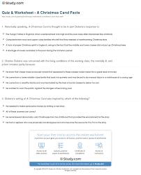 quiz worksheet a christmas carol facts com print a christmas carol history facts worksheet