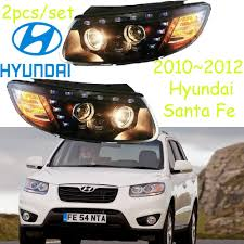 2013 Santa Fe Fog Light Replacement Car Styling Santa Fe Headlight 2010 2012 Free Ship Itucson